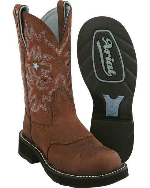 "Ariat Women's ProBaby 10"" Western Boots, Brown, hi-res"