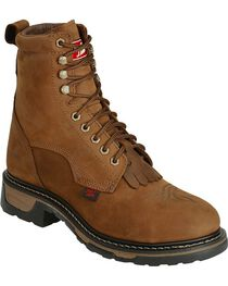 Tony Lama Men's TLX Steel Toe Waterproof Western Work Boots, , hi-res