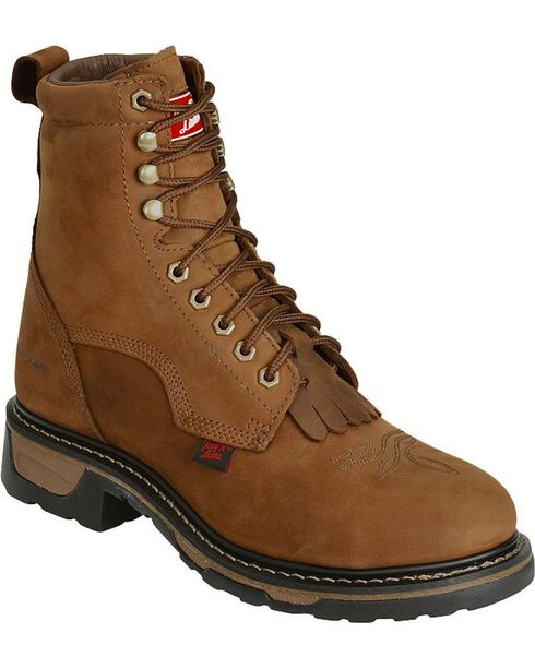 Tony Lama Men's TLX Steel Toe Waterproof Western Work Boots, Tan, hi-res