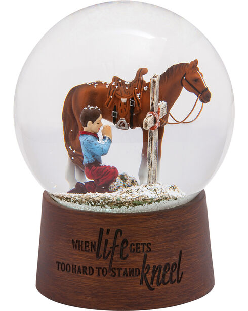 BB Ranch Praying Cowboy Snow Globe, No Color, hi-res