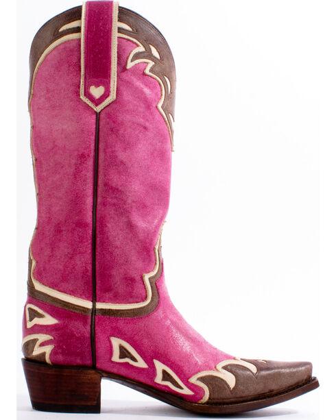 Lane Women's Back 40 Western Boots, Pink, hi-res