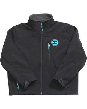 Hooey Boys' Black Fleece Lined Jacket , Black, hi-res