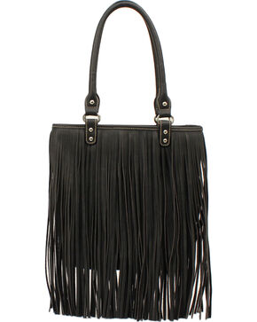 Blazin Roxx Fringe Shoulder Bag, Black, hi-res