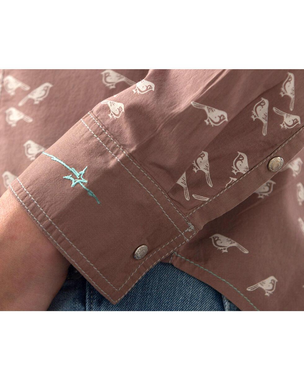 Ryan Michael Women's Bird Print Shirt, Taupe, hi-res