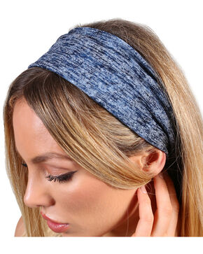 Shyanne® Women's Heather Blue Headband, Blue, hi-res