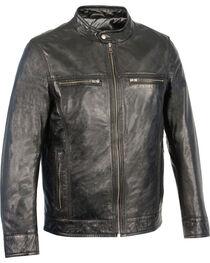Milwaukee Leather Men's Zip Front Classic Moto Leather Jacket, Black, hi-res