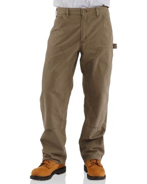 Carhartt Men's Double Front Canvas Dungaree Work Pants, Light Brown, hi-res