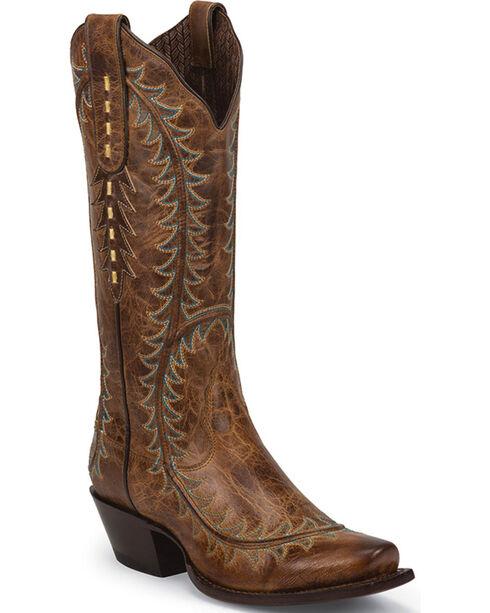 Nocona Women's Crazy Karma Western Boots, Tan, hi-res