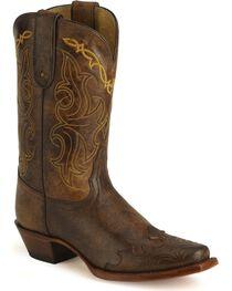 Tony Lama Women's 100% Vaquero Square Toe Wingtip Boots, , hi-res