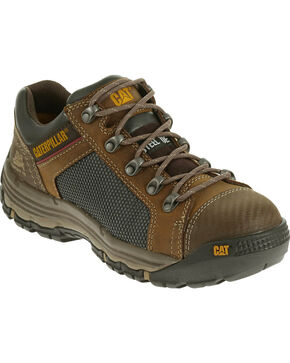 CAT Men's Convex Low Steel Toe Work Shoes, Light Brown, hi-res