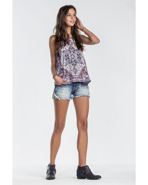 Miss Me Women's Shake It Off Shorts, Blue, hi-res