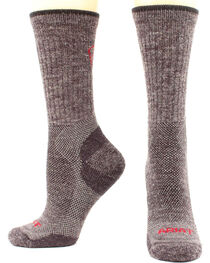 Ariat Men's Merino Mid Weight Hiker Socks - Two Pack, , hi-res