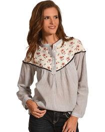 Polagram Women's Floral Print Long Sleeve Top , , hi-res