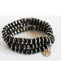 West & Co. Women's Silver and Black Rondell Bracelet, , hi-res