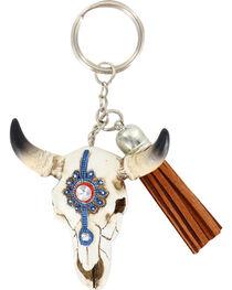 Shyanne® Steer Skull Keychain, , hi-res