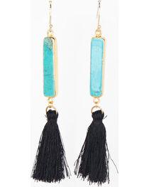 Everlasting Joy Jewelry Women's Black Arizona Tassel Earrings , , hi-res
