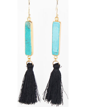 Everlasting Joy Jewelry Women's Black Arizona Tassel Earrings , Black, hi-res