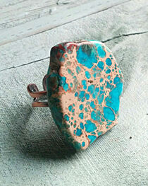 Jewelry Junkie Chunky Blue Regalite Ring, , hi-res