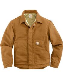 Carhartt Men's Flame-Resistant Canvas Dearborn Jacket - Big & Tall, Carhartt Brown, hi-res
