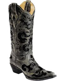 Corral Women's Sequins Inlay Western Boots, , hi-res