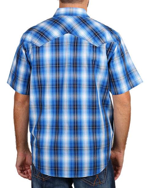 Cody James® Men's Western Plaid Short Sleeve Shirt, Blue, hi-res