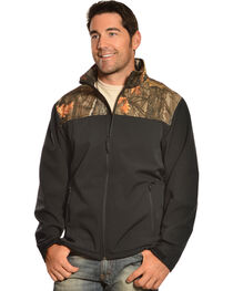Red Ranch Men's Black & Camo Bonded Fleece Jacket, , hi-res