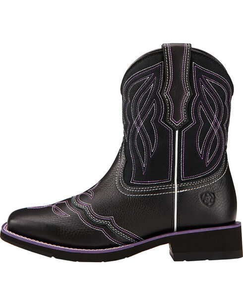 Ariat Women's Ranchbaby II Western Boots, Black, hi-res