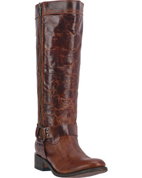 "Dan Post Women's Hot Ticket  14"" Fashion Western Boots, Rust, hi-res"