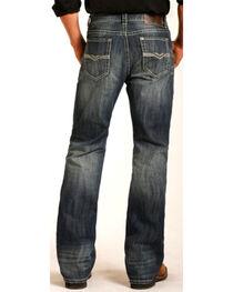 Rock & Roll Cowboy Men's Double Barrel Boot Cut Jeans, , hi-res