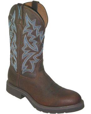 Twisted X Men's Waterproof Steel Toe Western Work Boots, Brown, hi-res