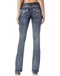 Miss Me Women's Indigo Faux Flap Pocket Jeans - Boot Cut , , hi-res