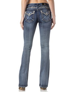 Miss Me Women's Indigo Faux Flap Pocket Jeans - Boot Cut , Indigo, hi-res