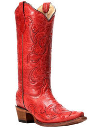 Circle G by Corral Women's Embroidery Snip Toe Western Boots, , hi-res