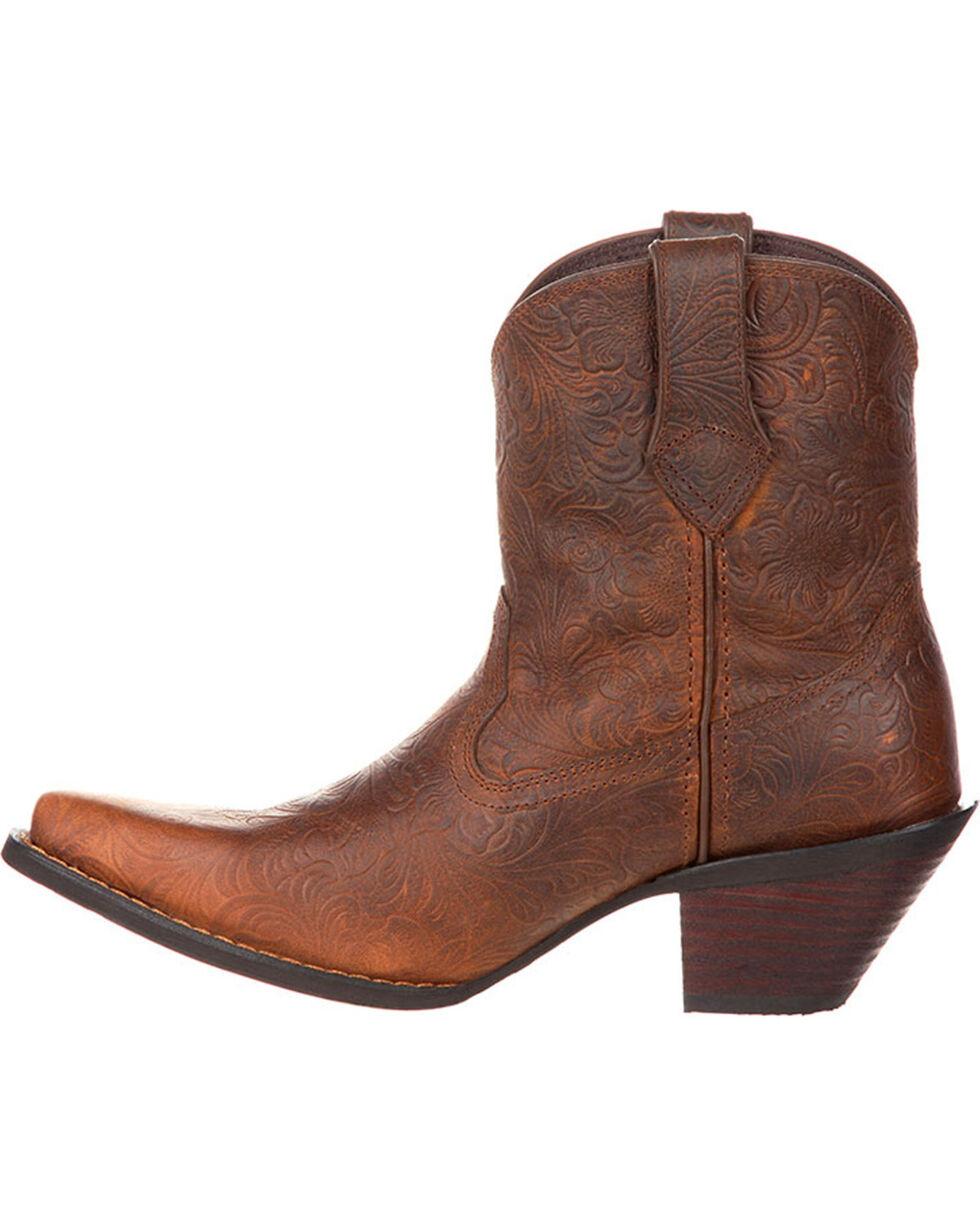 Crush by Durango Women's Western Embossed Booties, Brown, hi-res
