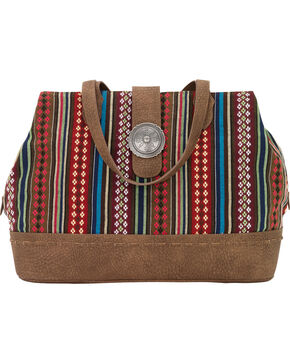 Bandana by American West Women's Buena Vista Multi Compartment Large Tote, Brown, hi-res