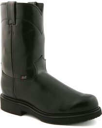 "Justin Boots Men's Pull On 10"" Work Boots, , hi-res"