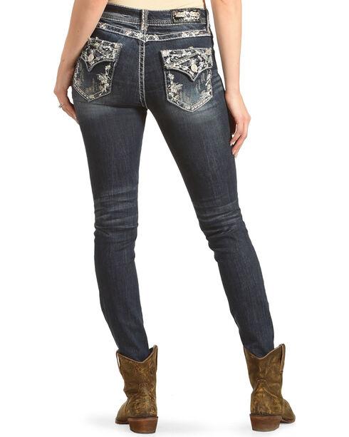 Grace in LA Women's Indigo Flora Jeans - Skinny , Indigo, hi-res