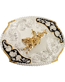 Montana Silversmiths Bucking Bronco Belt Buckle, , hi-res