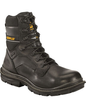 CAT Men's Waterproof Steel Toe Generator Work Boots, Black, hi-res