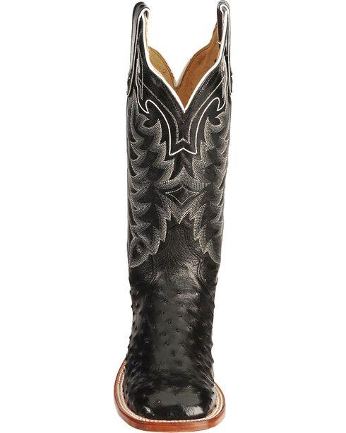 """Tony Lama Men's San Saba Full Quill Ostrich 13"""" Western Boots, Black, hi-res"""