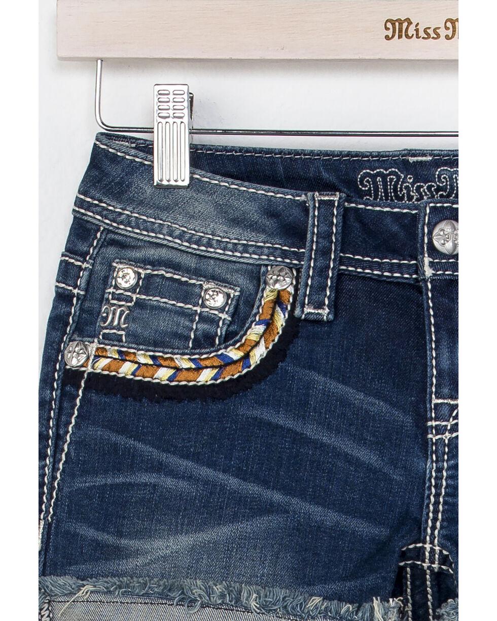 Miss Me Girls' Well Wishes Shorts , Indigo, hi-res