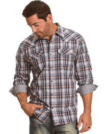 Moonshine Spirit® Men's Plaid Western Long Sleeve Shirt, , hi-res