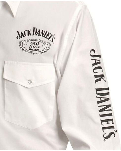 Jack Daniel's Men's Old No. 7 Long Sleeve Western Shirt, White, hi-res