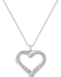 Montana Silversmiths Women's Bright Hearts Entwined Necklace , , hi-res