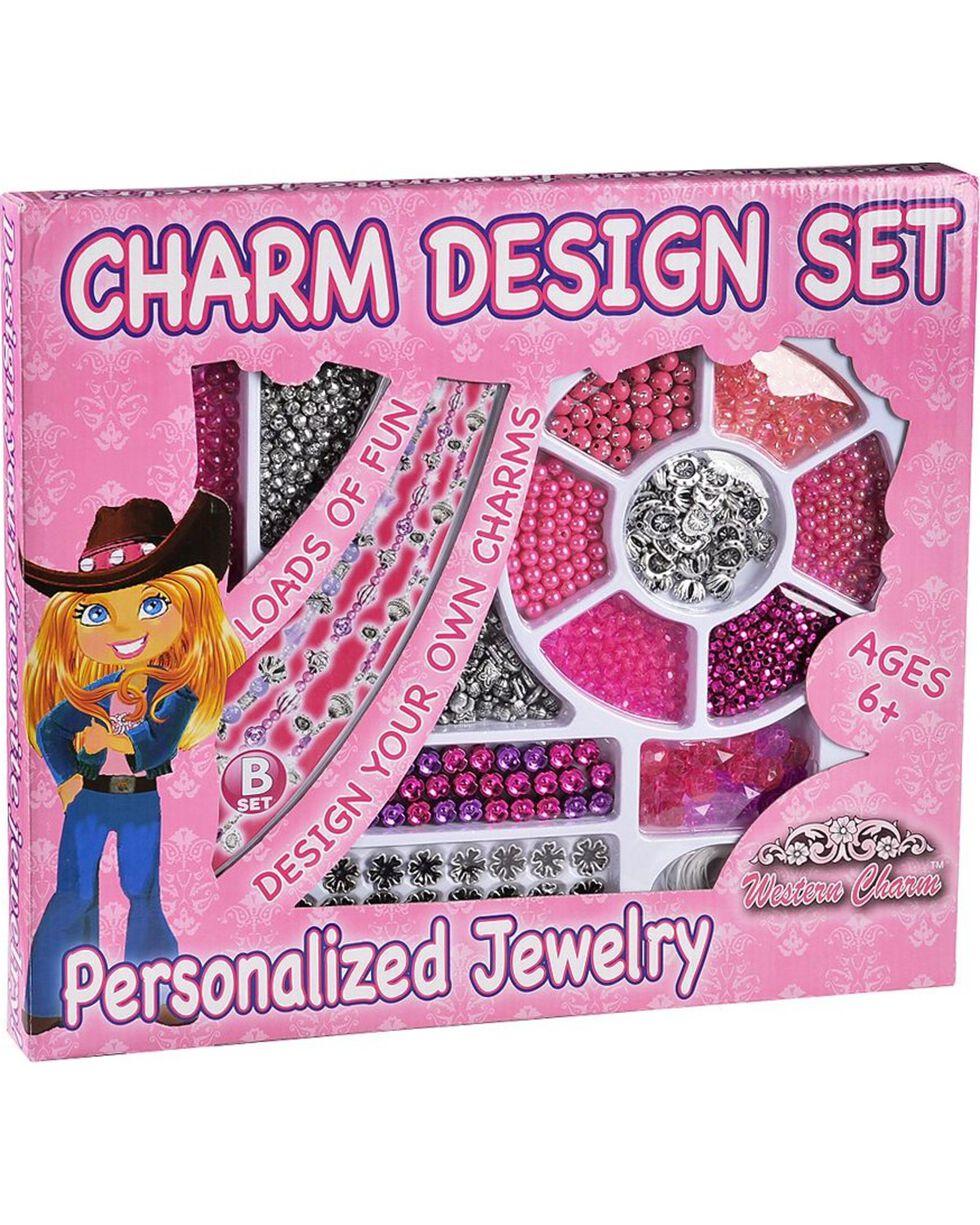 M&F Western Girls' Charm Design Set, Pink, hi-res