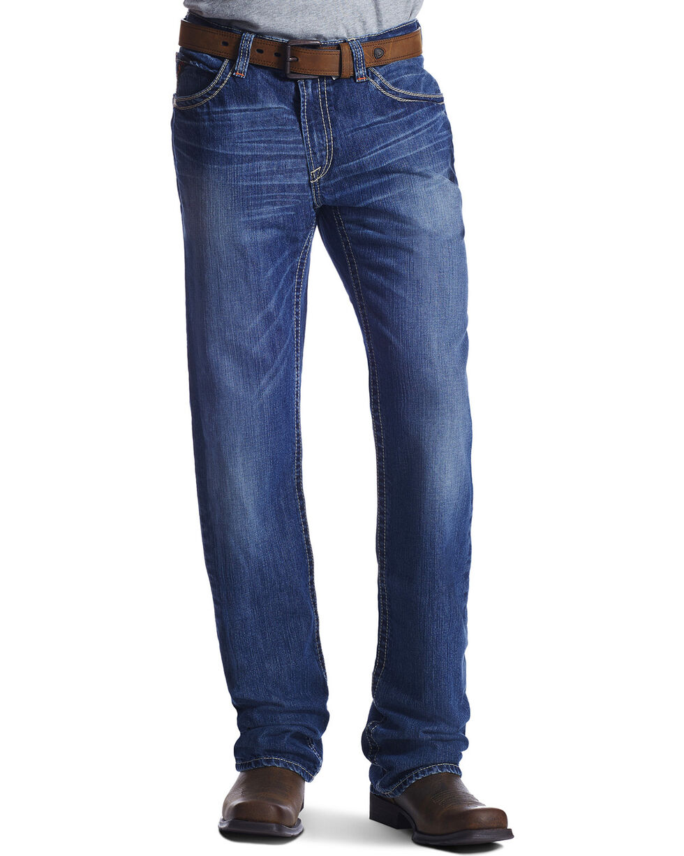 Ariat Men's Fire-Resistant M4 Ridgeline Boot Cut Work Jeans, Denim, hi-res