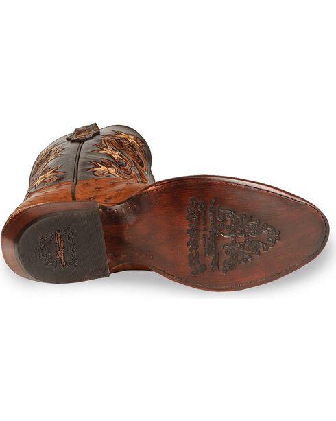 Tony Lama Men's Cowboy Classic Ostrich Western Boots, Brandy, hi-res