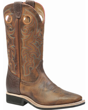 Boulet Laid Back Tan Spice Boots - Square Toe, Tan, hi-res