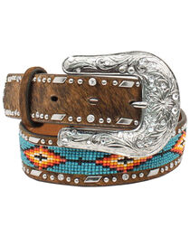 Ariat Girls Beaded Ribbon Inlay Belt, , hi-res