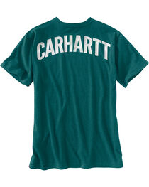 Carhartt Men's Green Maddock Block Lettering Pocket Tee - Tall, , hi-res